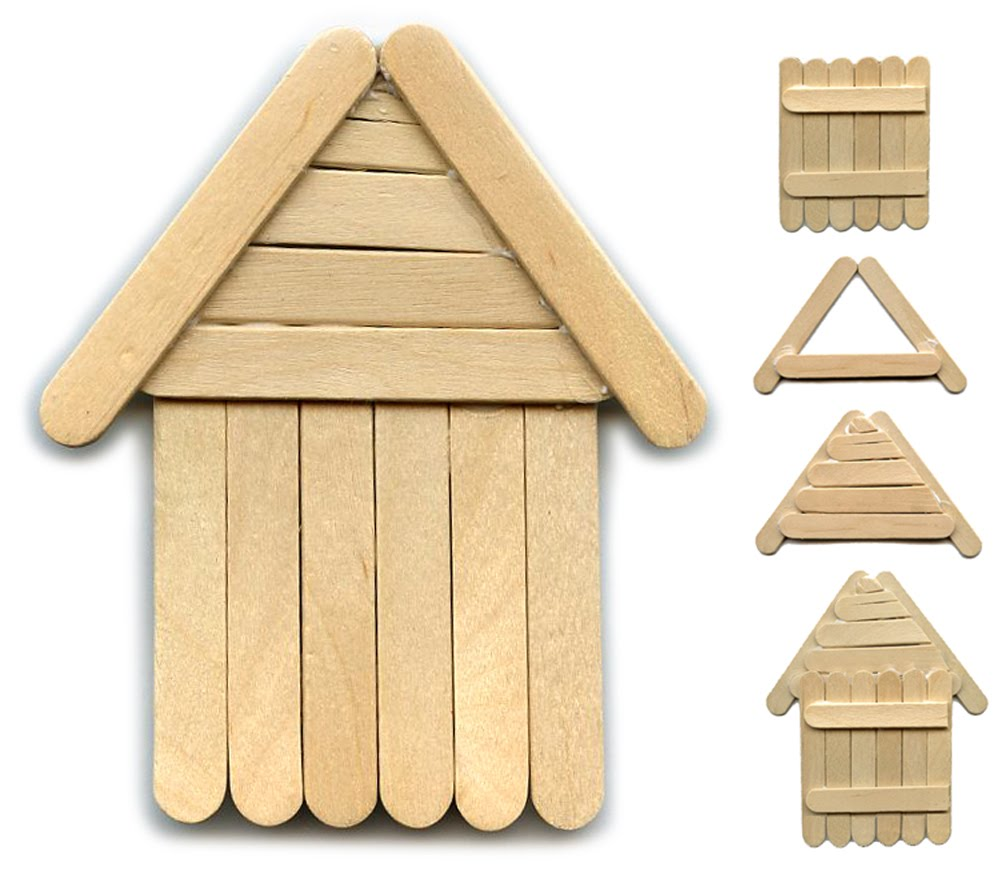 How to build a popsicle stick house house plan 2017 for Ideas for building with popsicle sticks