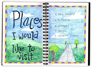 travel journal page