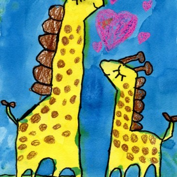 Mother's Day Giraffe Painting