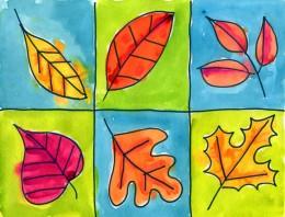 Fall Leaf Grid