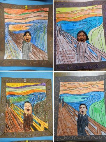 "Student's ""Scream"" Art"