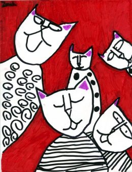 Zach's Abstract Cats