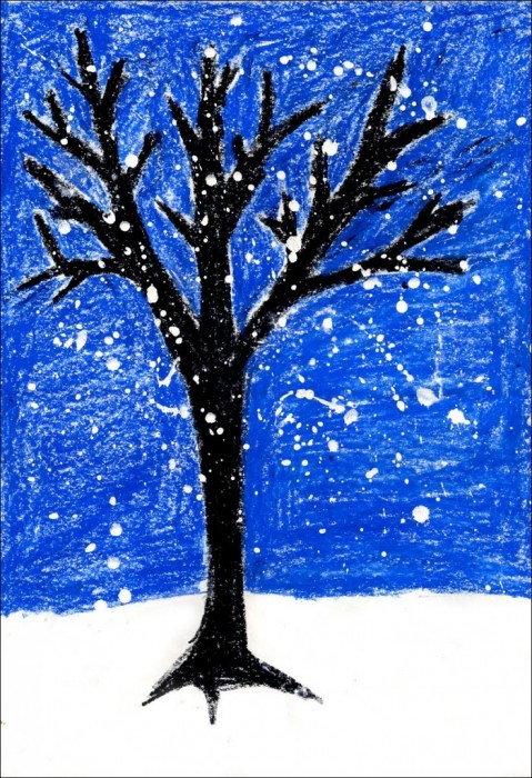 Ive Found This Tree Painting Easy Enough For Even Very Young Students Like First And Second Grade