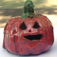 Halloween ceramic pumpkin