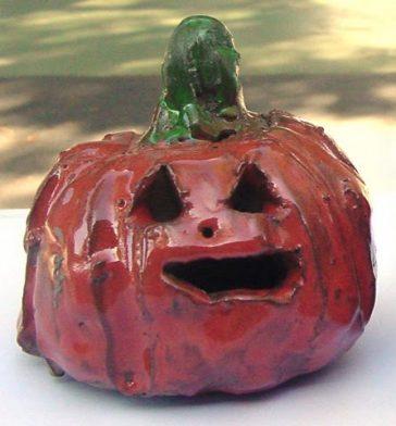 Halloween ceramic pumpkin