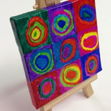 Mini Canvas Kandinsky Circle Painting