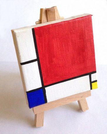 Mini Mondrian Sharpie Painting