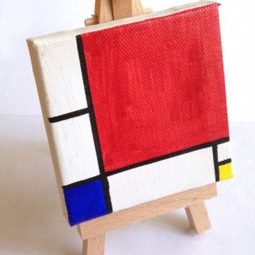 Mini Mondrian Sharpie Painting