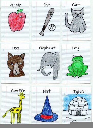 Mini School Paper Art Trading Cards