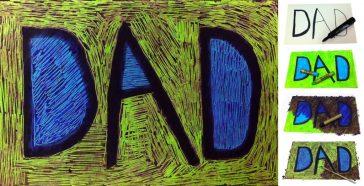 scratch art dad card