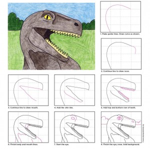 easy dinosaur drawing