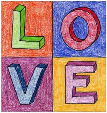 Robert Indiana LOVE Letter