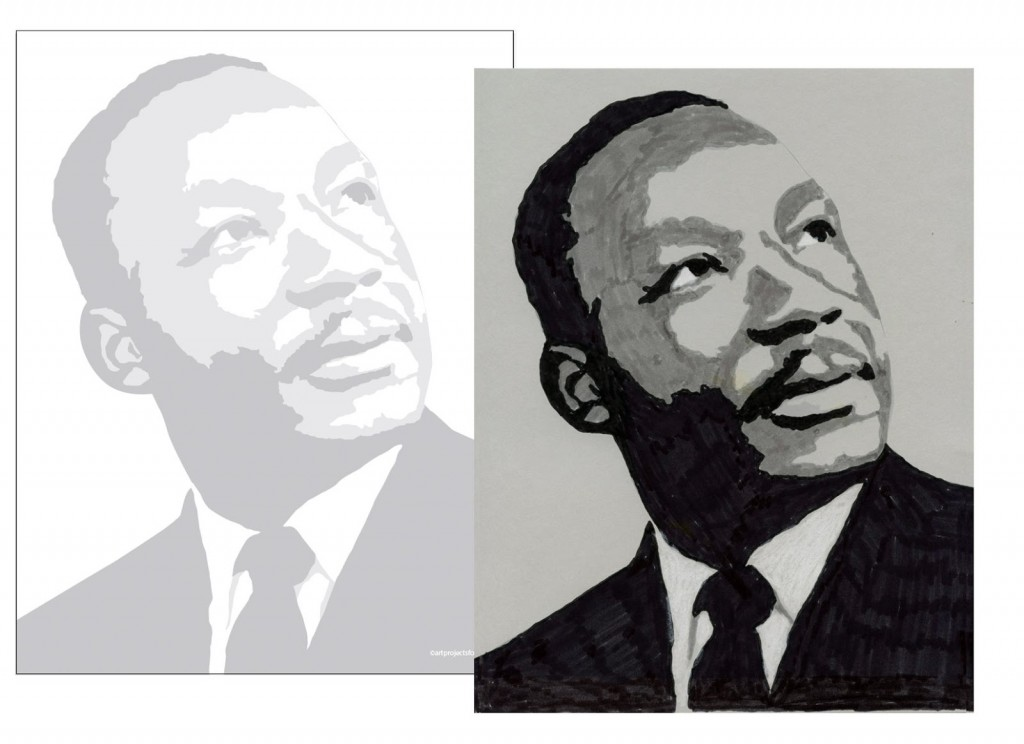 Martin Luther King Coloring Page - Art Projects for Kids