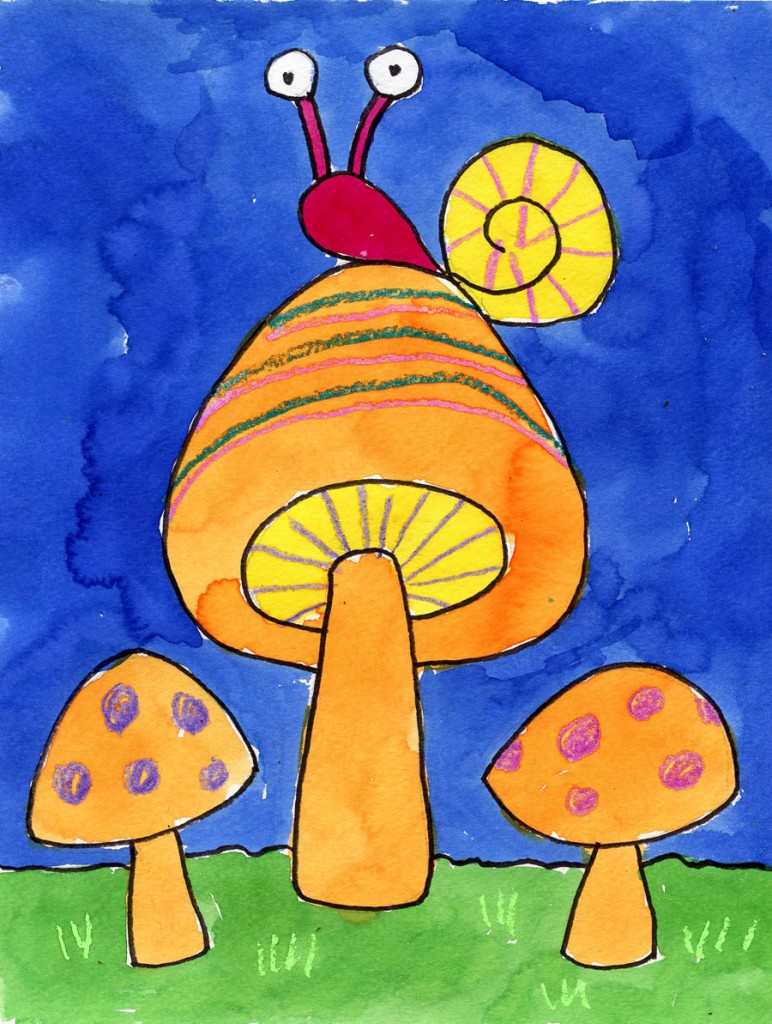 How to Draw Simple Mushrooms · Art Projects for Kids