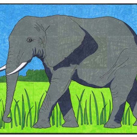 elephant for coloring