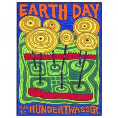 Earth Day Mural, Hundertwasser style collaborative art project