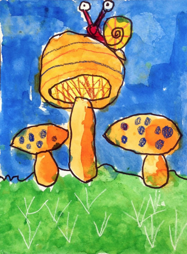 Turner's Mushroom Painting · Art Projects for Kids