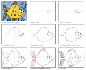 draw cartoon fish diagram