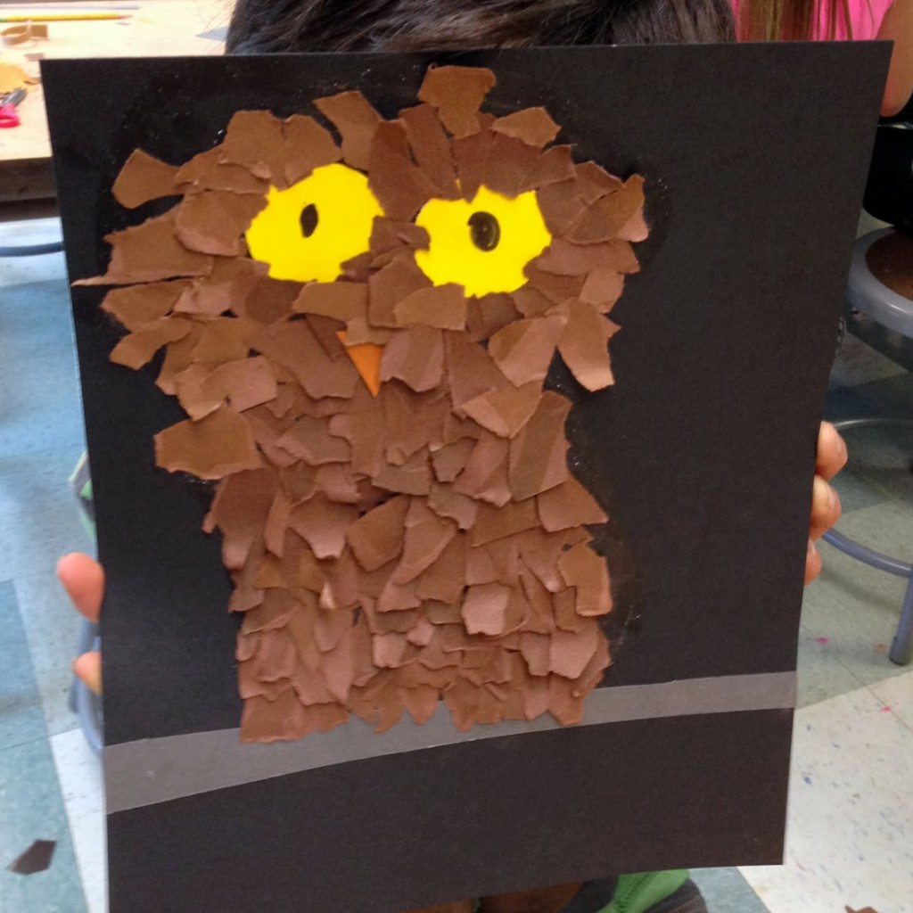 fluffy owl art projects for kids