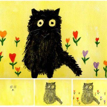 Maud Lewis Cat Painting