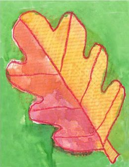 Fall Leaf with Texture