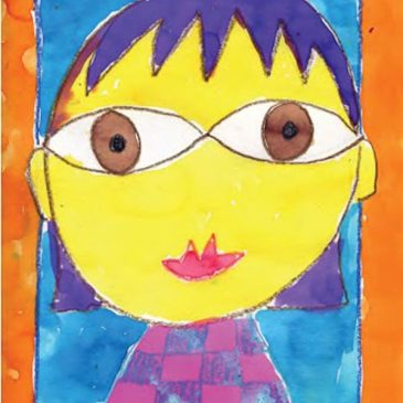 Hundertwasser Style Self Portrait Painting