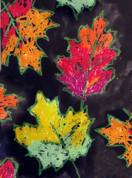 Fall Leaf Painting Project