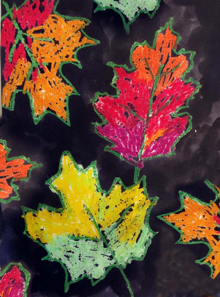 fall leaf painting