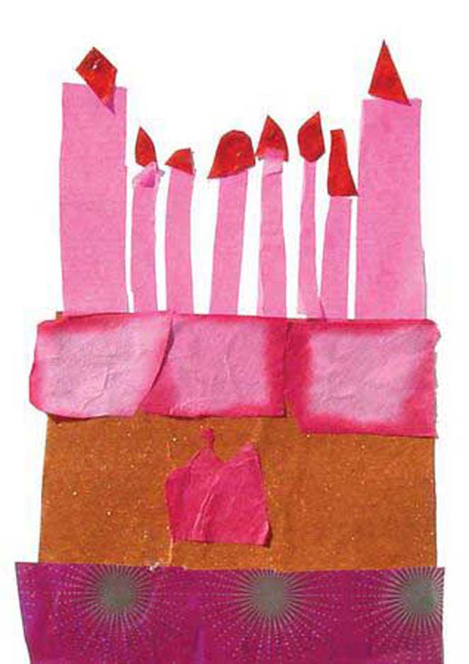 Birthday Cake Collage - Art Projects for Kids