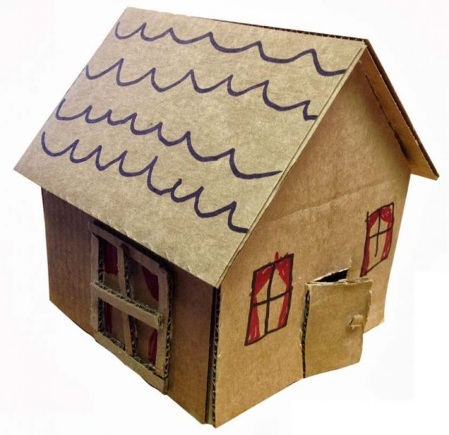 Cardboard Craft House Art Projects For Kids