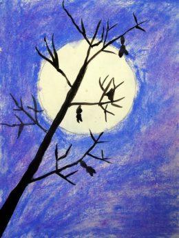 spooky trees art project