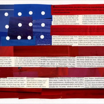 Faith Ringgold Flag Collage