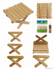 Mini craft stick table