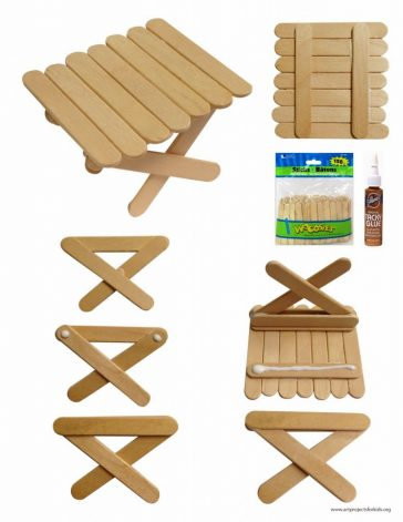 Mini craft stick pcnic table