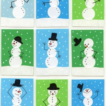 Snowman Handmade Greeting Cards