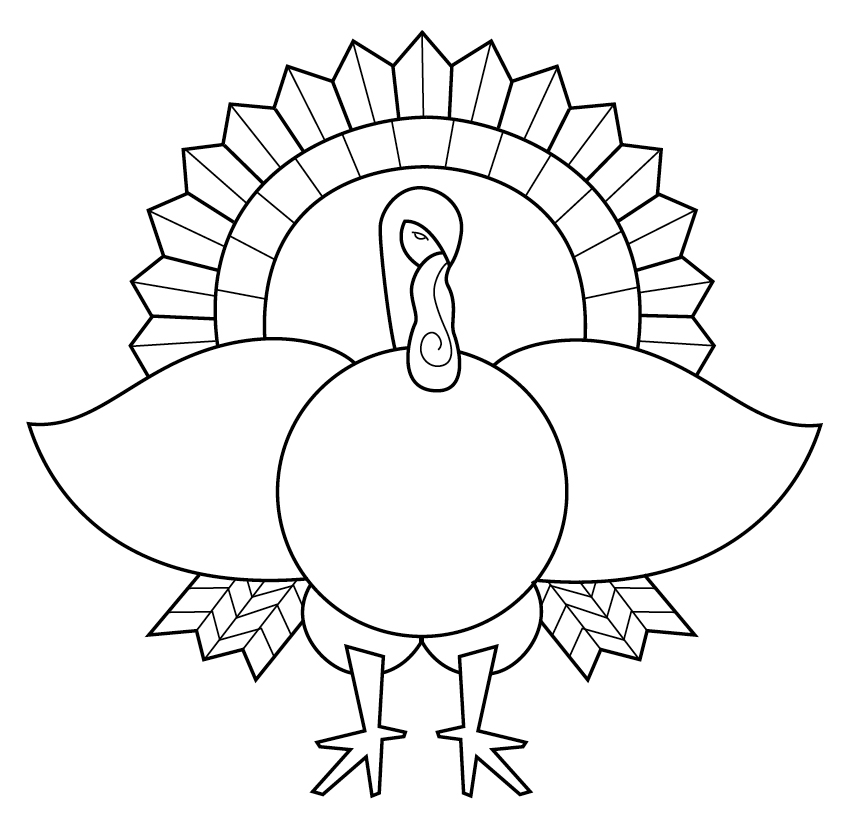 Turkey Coloring Pages – coloring.rocks! | 828x847