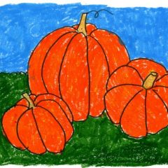 draw a pumpkin