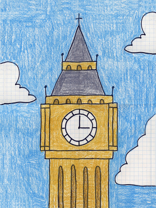 big ben doodle - photo #12