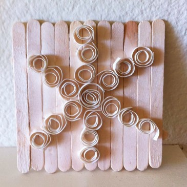 Quilling Snowflakes with Bread Ties