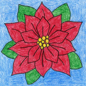 Poinsettia Drawing for the Holidays