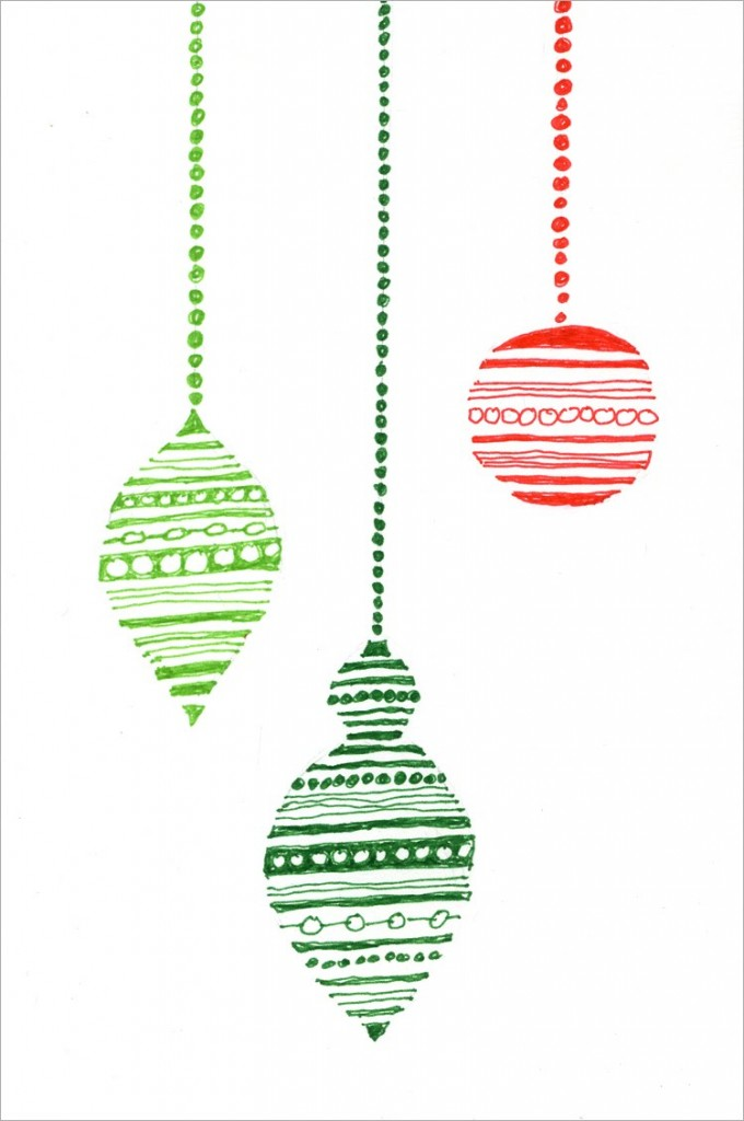 Holiday Ornament Card Art Projects For Kids