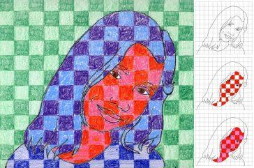 Chuck Close art project