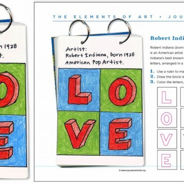 Robert Indiana Art Journal Page