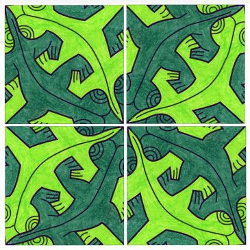Escher Lizard Template