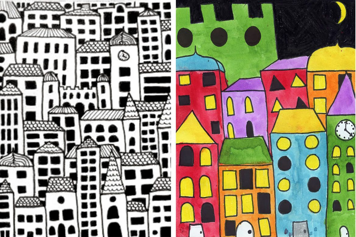 Drawing City Buildings  U00b7 Art Projects For Kids