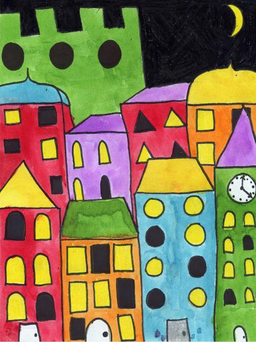Draw City Buildings  U00b7 Art Projects For Kids
