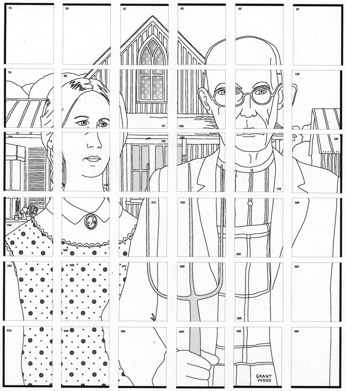 american gothic mural  u00b7 art projects for kids