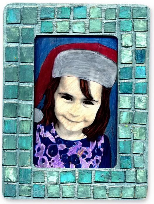 Mosaic CD Frame - Art Projects for Kids