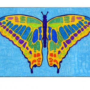 butterfly mural collaborative art project