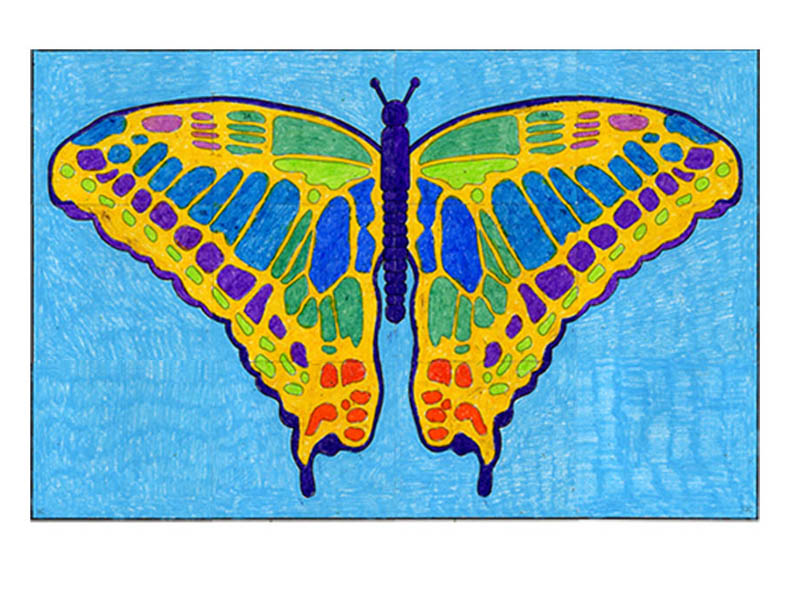 Butterfly mural art projects for kids for Butterfly mural